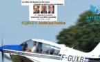 JACKY, DENIS, PATRICK et XB en route vers SAINT LOUIS du SENEGAL sous les couleurs d'Aviation sans Frontières départ de Caen le 21 Septembre 14h